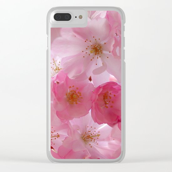 Delicate Cherry Blossoms Clear iPhone Case