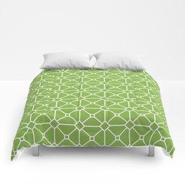 Fresh Green Tile Pattern Comforters
