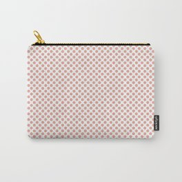 Coral Pink Polka Dots Carry-All Pouch