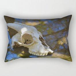 Goat Skull Rectangular Pillow