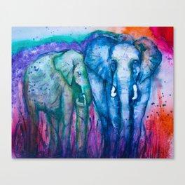 2 Elephants Canvas Print
