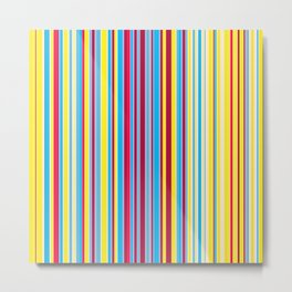Stripe obsession color mode #1 Metal Print