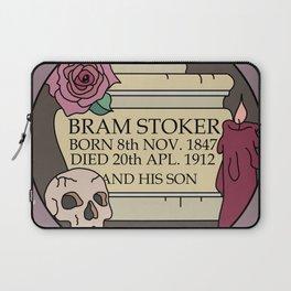 Remember Bram Stoker - Golders Green Crematorium - Dracula Laptop Sleeve