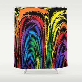 Tossing the Rainbow Shower Curtain