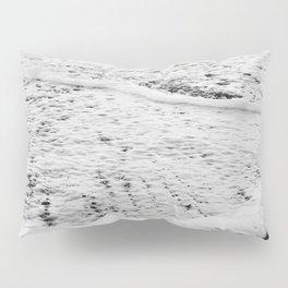 Rushing in - black white Pillow Sham