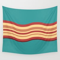 bacon Wall Tapestries featuring Bacon by Jiro Tamase