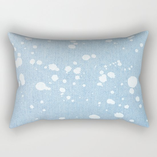 Stained jeans texture Rectangular Pillow