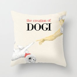 The Creation of Dogi Throw Pillow