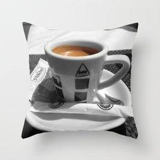 Coffee - espresso Throw Pillow