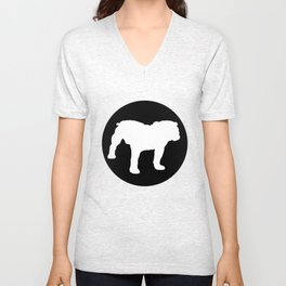 Bulldog Unisex V-Neck