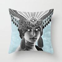 grace Throw Pillows featuring Grace by Thömas McMahon