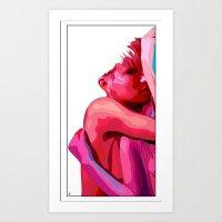 women Art Prints featuring women by veronica ∨∧