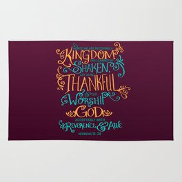 Kingdom That Cannot Be Shaken Rug