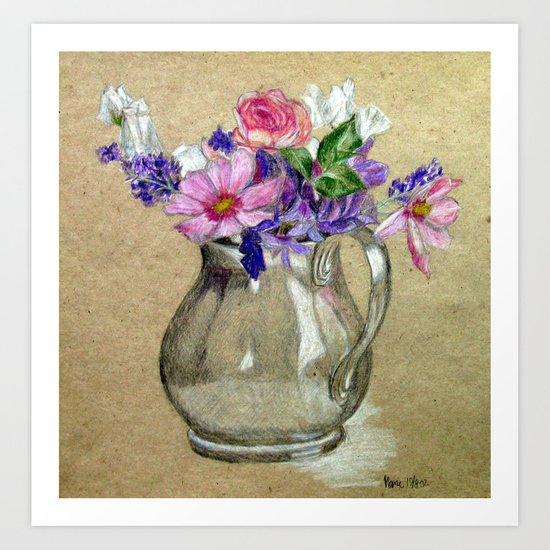 Metallic vase Art Print