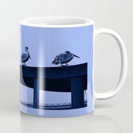 Blue Pelicans Coffee Mug
