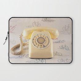 The yellow retro telephone  Laptop Sleeve