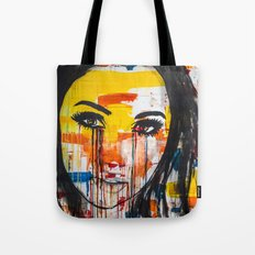 The unseen emotions of her innocence Tote Bag