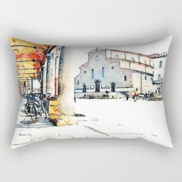 Faenza: bicycles on the arcades Rectangular Pillow