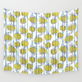 Spaceship Shapes Wall Tapestry