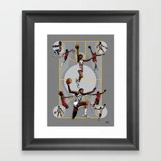 Dr. J; Illuminated Framed Art Print