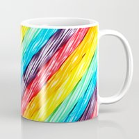 candy Mugs featuring Rainbow Candy: Licorice by WhimsyRomance&Fun