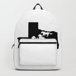 Texas American Quarter Horse Lover Black Backpack