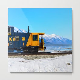 Caboose - Alaska Train Metal Print
