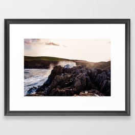 Power of the waves  Framed Art Print