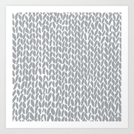 Hand Knit Zoom Grey Art Print