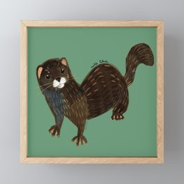 Shy european mink pattern Framed Mini Art Print