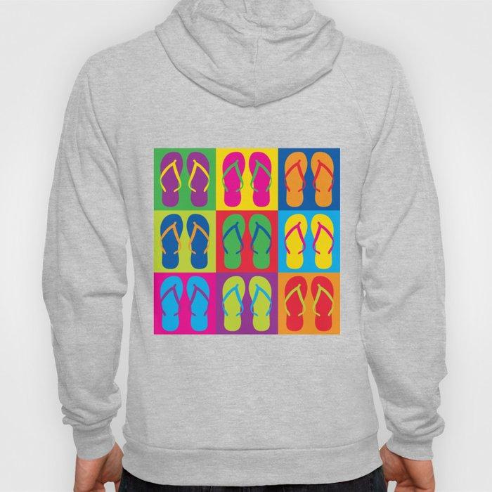 Pop Art Flip Flops Hoody