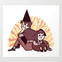 over the garden wall Art Prints featuring Over the Garden Wall by SIINS