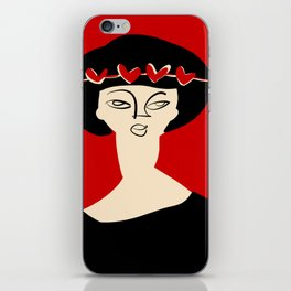 Valentine's girl iPhone Skin