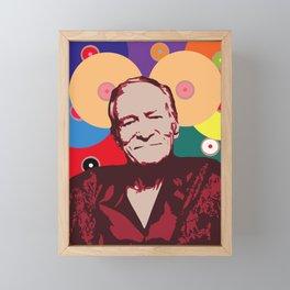 Rest in Boobs - Hugh Hefner Framed Mini Art Print