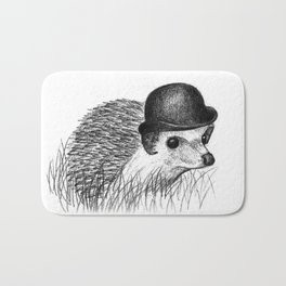 Hedgehog in a Bowler Hat Bath Mat