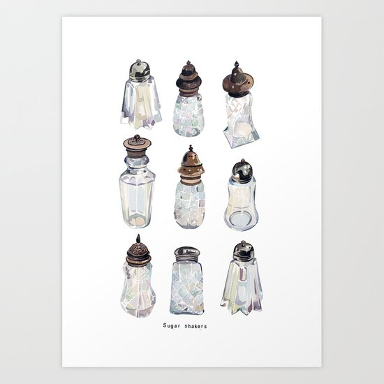 Antique Sugar Shakers Art Print