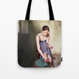 Painting Toenails Tote Bag