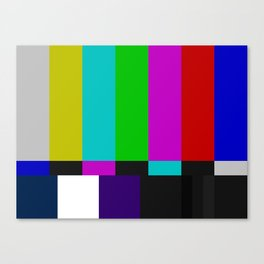 SMPTE Color Bars (as seen on TV) Canvas Print
