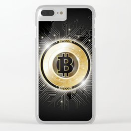 Bitcoin World Clear iPhone Case