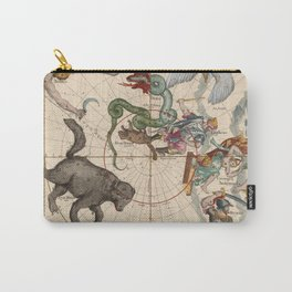 Pictorial Celestial Map with Constellations Ursa Major and Ursa Minor Carry-All Pouch