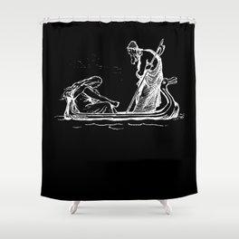 Norse Myth Frigg and Odin Sailing In Fensalir Shower Curtain