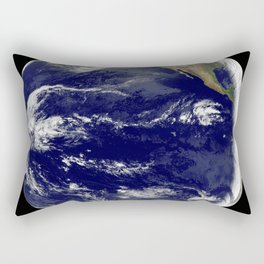 This image from NASAs Terra spacecraft shows Beihai a city in the south of Guangxi Peoples republic Rectangular Pillow