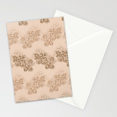 Brown Lace Stationery Cards