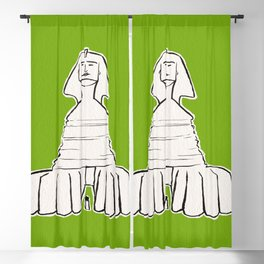 The great sphinx of Giza Blackout Curtain