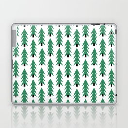 Christmas Tree forest holiday minimal decor festive winter trees green and white Laptop & iPad Skin