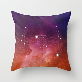 Constellation Vader Tie Fighter Throw Pillow