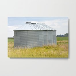 Grain Bins 2 Metal Print