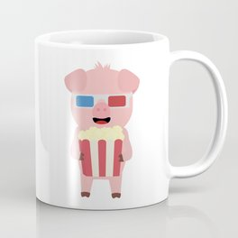 Cinema Pig with Popcorn Coffee Mug