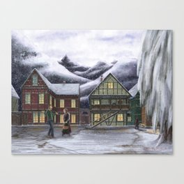 Town Square Canvas Print