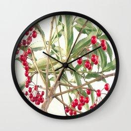 Christmas Berry Wall Clock